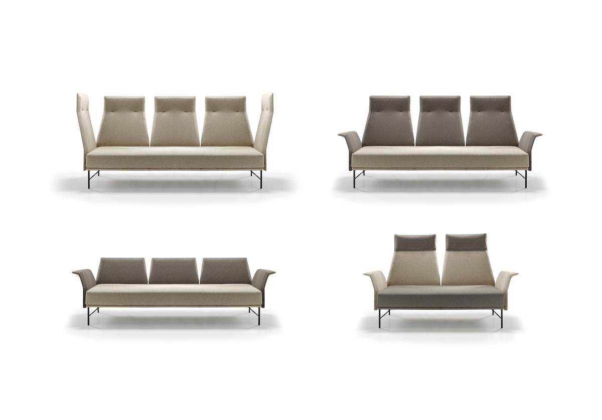 Butacas y bancos colección Luka de Jorge Pensi Design Studio. Beltá & Frajumar. Nuestros partners MAZA Grupo