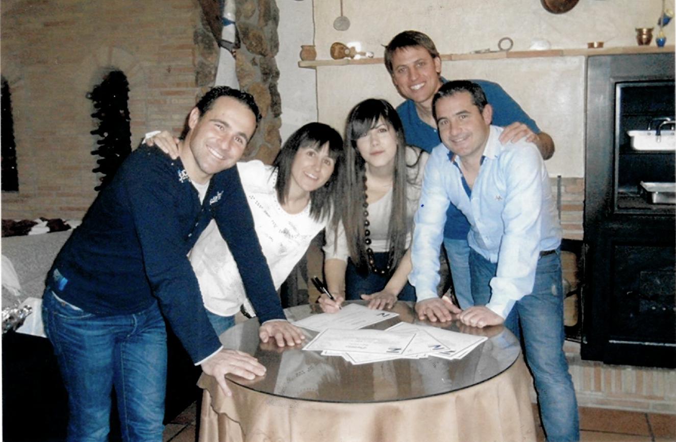 El equipo MAZA Grupo en una imagen de archivo. De izquierda a derecha: David García,  Fini Pérez, Ingrid Ortiz, Pablo Soler y Fran García.