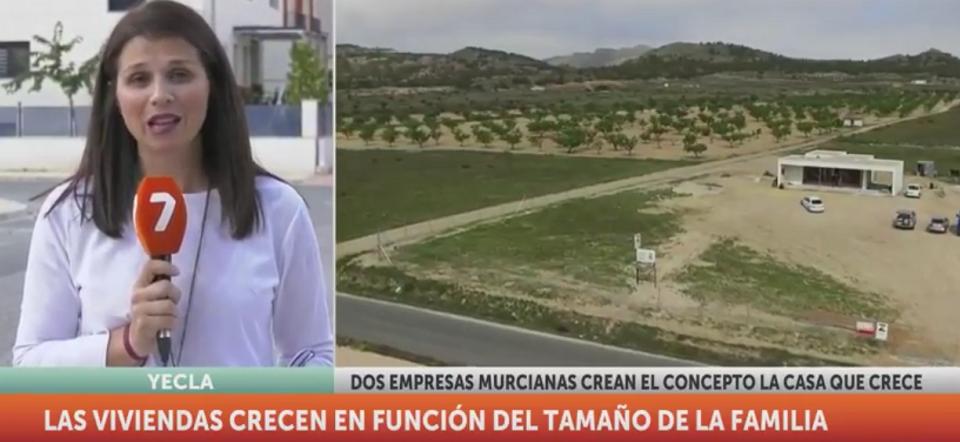 La Casa Que Crece en informativos de 7TV Región de Murcia