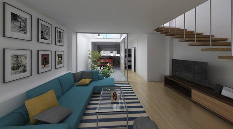 la casa del patio, arquitectura, reforma