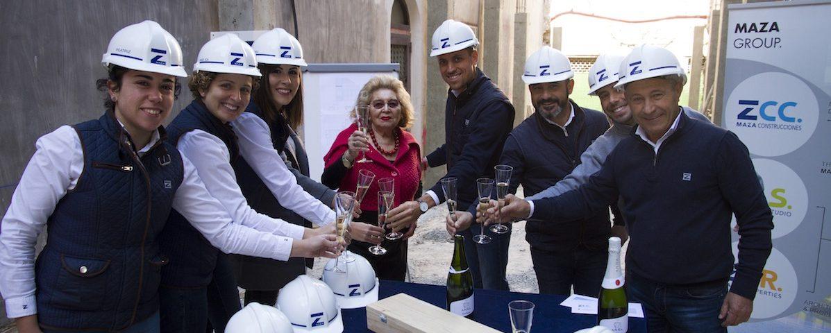 MAZA Grupo, Edificio De Tiedra. construcción