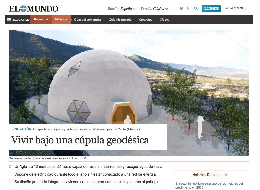 El Mundo publica sobre la vivienda geodésica