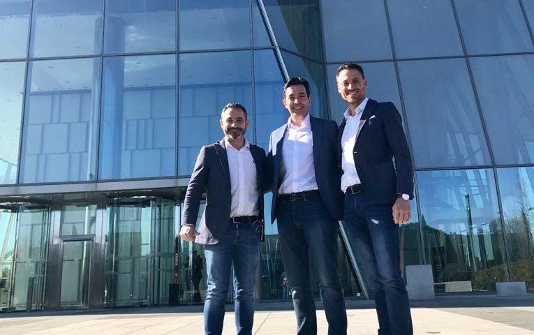 Fran Garcia, Pedro Herrero y Pablo Soler en delegación Madrid
